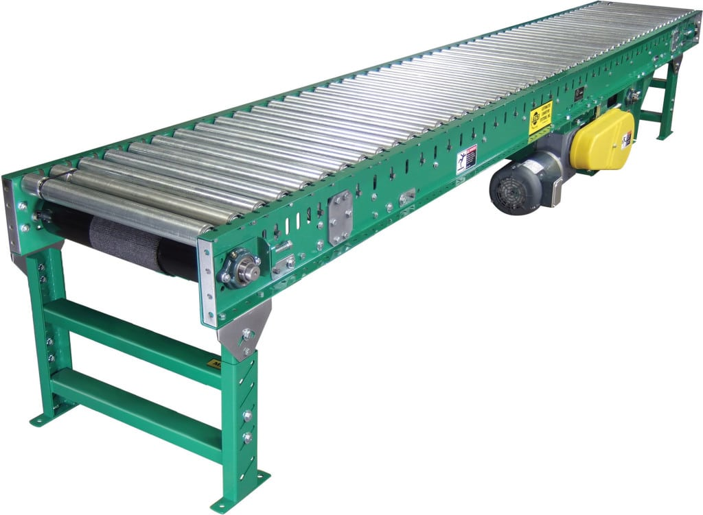 Live roller accumulation ingalls conveyors inc Motorized conveyor belt